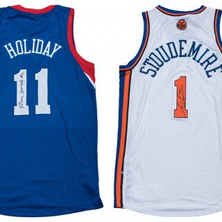 9aef8af6c4e Lot of (4) Signed NBA Game Jerseys - 2011 Stoudemire Knicks Home Jersey –  Current sales – Barnebys.com