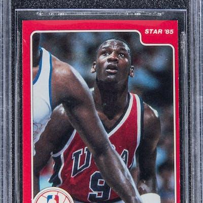 1984 85 Star 195 Michael Jordan Rookie Card Bgs Nm 7