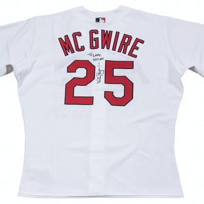 sale retailer f325a d4291 Mark McGwire Signed & Inscribed St. Louis Cardinals Home ...