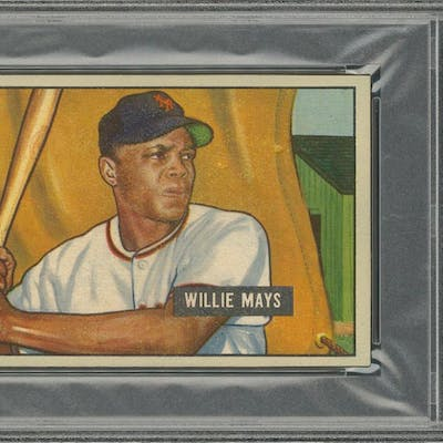 1951 Bowman 305 Willie Mays Rookie Card Psa Authentic