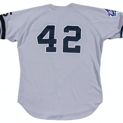 sale retailer 10d23 213c0 1999 Mariano Rivera Game Used New York Yankees Road Jersey ...
