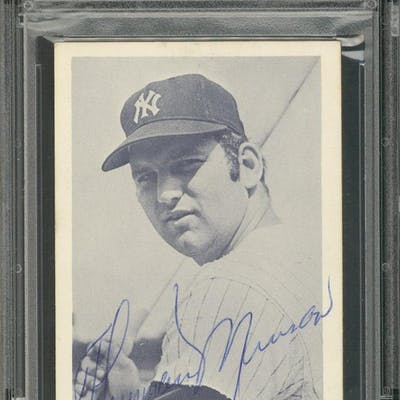 Thurman Munson Signed 1972 New York Yankees Home Schedule