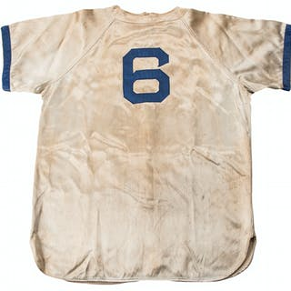 1946 Carl Furillo Game Used Brooklyn Dodgers Satin Home Jersey (MEARS)
