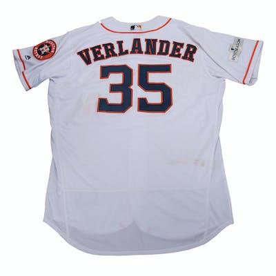 low priced 61655 aa27f 2017 Justin Verlander Postseason Game Used Houston Astros ...