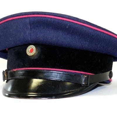 A German Third Reich Fire Police NCO/EM visor cap