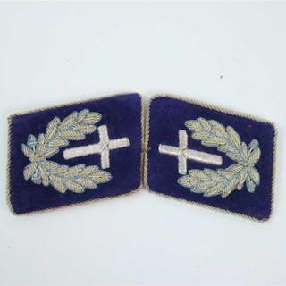 A pair of unissued German Kriegsmarine Chaplain collar tabs