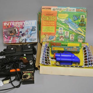 A collection of late 20th century electronic toys