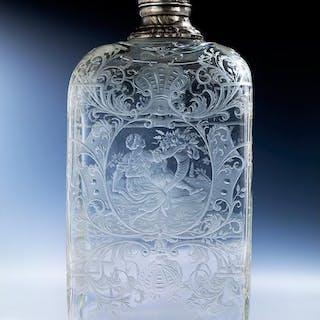 Barocke Glasflasche