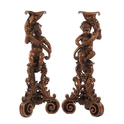 Paar figürliche Torchèren
