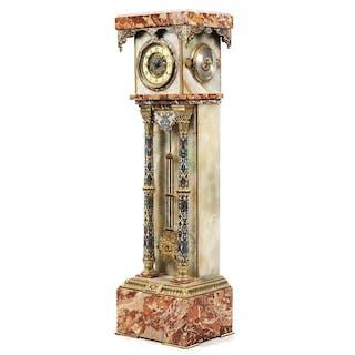 Eklektizistische französische Standuhr mit Barometer und Thermometer