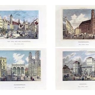 Konvolut von vier Münchner Grafiken