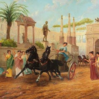 Ettore Forti, Italienischer Künstler des 19./ 20. Jahrhunderts
