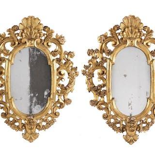 Paar vergoldete Spiegel