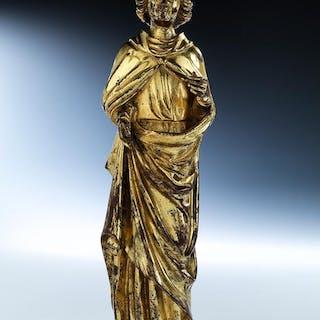 Vergoldete Bronzefigur einer Engelsgestalt