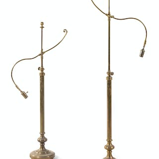 A Pair of Bronze Floor Lamps