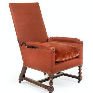 A Louis XIII Walnut Adjustable Easy Chair