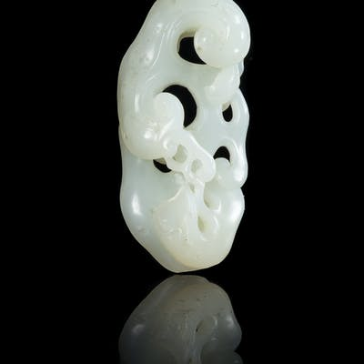 A Chinese White Jade Lingzhi Group