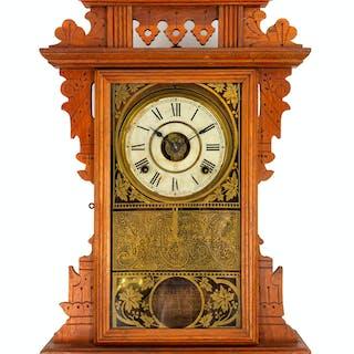 A Victorian Eastlake Style Wall Clock