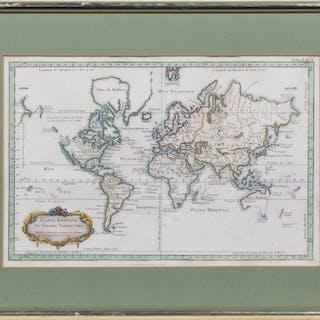 [Jacques Nicolas Bellin (1703-1772)]. Carte Reduite Du Globe Terrestre.
