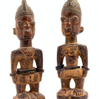 Two Pairs of Yoruba Ibeji Twin Figures