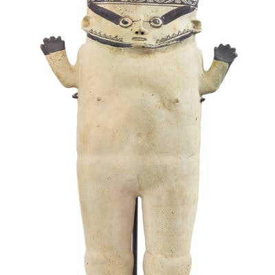 A Clay Chancay Standing Figure