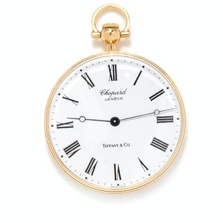 Chopard for Tiffany & Co., 18K Yellow Gold Open Face Pocket Watch