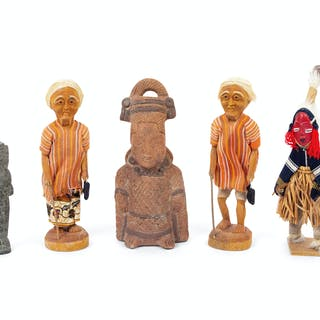 A Group of Five Ethnographic Figures