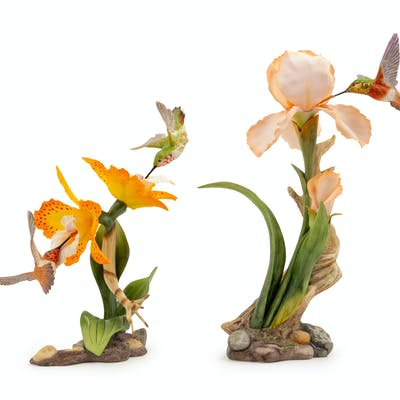 Two Boehm Porcelain Figural Groups