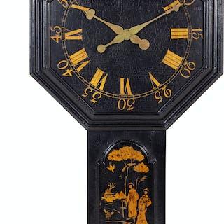 A Modern Georgian Style Lacquered Wall Clock