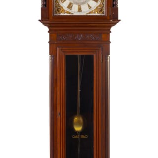 An American Mahogany Tall Case Clock
