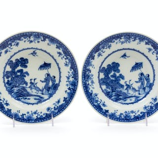 A Pair of Chinese Export Porcelain Soup Plates