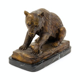 A Continental Bronze Model of a Bear