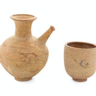 Two Syrian Earthenware Vessels
