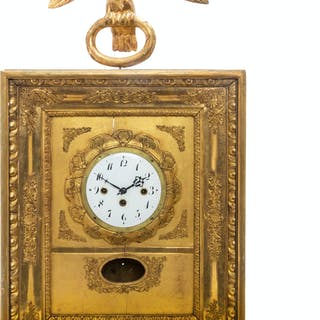 An Empire Giltwood Wall Clock