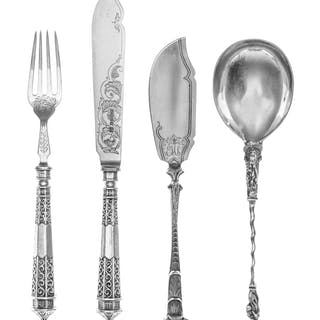 A Collection of English Silver Flatware Articles