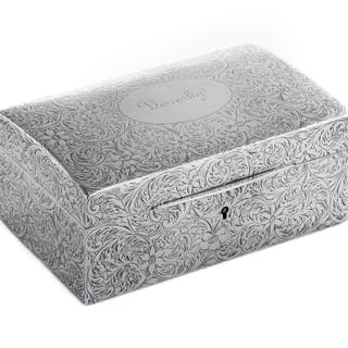 An American Silver Table Casket