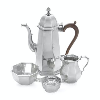 An English Silver Three-Piece Coffee Service