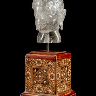 A Chinese Carved Rock Crystal Buddha
