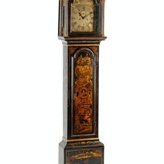 A George III Painted Tall Case Clock