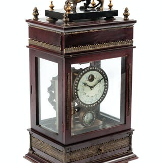 An English Mahogany Mantel Clock