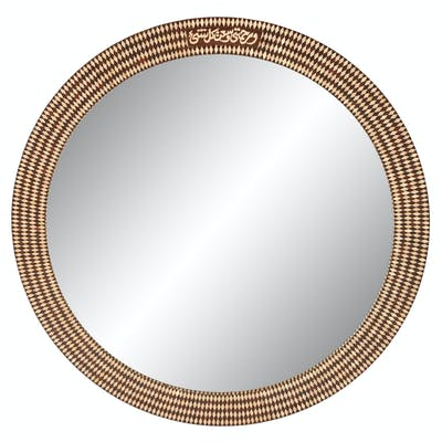 A Moorish Style Mother-of-Pearl Inlaid Mirror