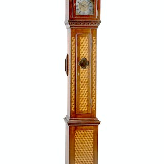 A Louis XVI Style Parquetry Tall Case Clock