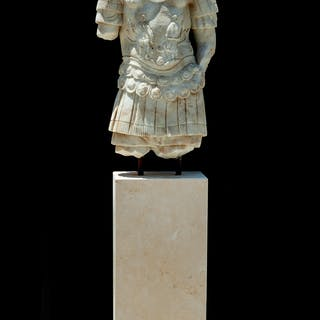 An Italian Stone Torso of a Centurion