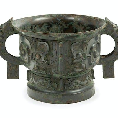 An Archaistic Bronze Food Vessel, Gui