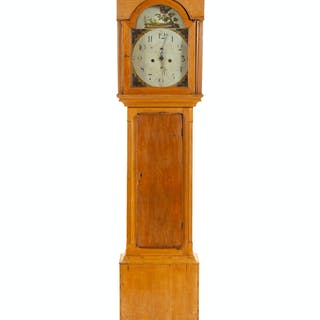 An American Cherry Tall Case Clock