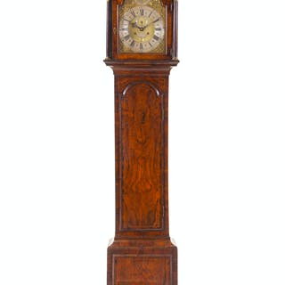An English Walnut Tall Case Clock