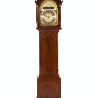 A George III Mahogany Tall Case Clock
