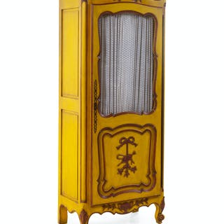 A Louis XV Style Painted Cabinet