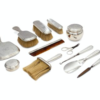 An American Silver Twelve-Piece Dresser Set