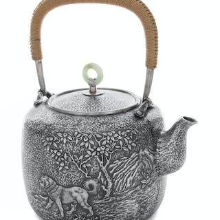 A Japanese Silver Tea Pot